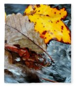 Touching In Time Fleece Blanket