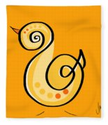 Thoughts And Colors Series Chick Fleece Blanket
