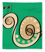 Thoughts And Colors Series Snail Fleece Blanket
