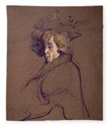 Toulouse-lautrec J Fleece Blanket