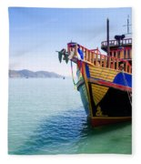 Tour Boat Fleece Blanket