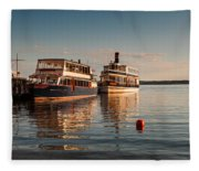 Tour Boats Lake Geneva Wi Fleece Blanket
