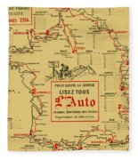 Tour De France 1914 Fleece Blanket