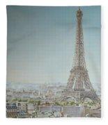 Tour Eiffel 1 Fleece Blanket