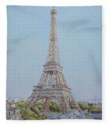 Tour Eiffel 3 Fleece Blanket