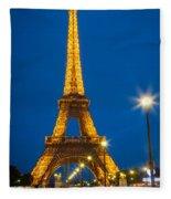 Tour Eiffel De Nuit Fleece Blanket