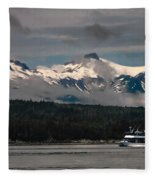 Touring Alaska Fleece Blanket