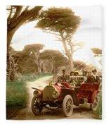 Royal Tourist Touring Car On The 17 Mile Drive Pebble Beach California Circa 1910 Fleece Blanket