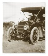 Touring Car On The Road California 1906 Fleece Blanket