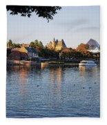 Touring On The World Showcase Lagoon Walt Disney World Fleece Blanket