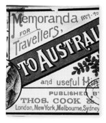 Tourism Australasia, 1889 Fleece Blanket