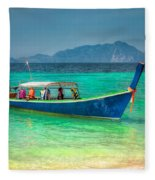 Tourist Longboat Fleece Blanket