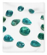 Tourmaline Paraiba Fleece Blanket
