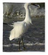 Tousled Egret Fleece Blanket