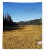 Towards Hand Lake And Mt Jefferson Fleece Blanket
