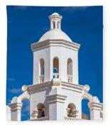 Tower At Mission San Xavier Del Bac Fleece Blanket