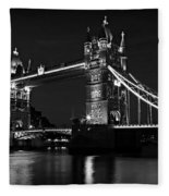 Tower Bridge Evening Fleece Blanket