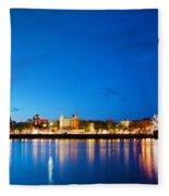Tower Bridge In London Uk At Night Fleece Blanket