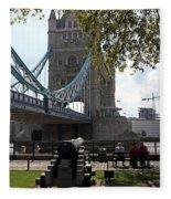 Tower Bridge In The City Of London Fleece Blanket