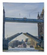 Tower Bridge Opened Fleece Blanket