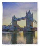 Tower Bridge Sunrise Fleece Blanket