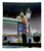 Tower Bridge Surrealism Fleece Blanket