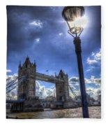 Tower Bridge View Fleece Blanket