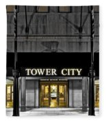 Tower City In Cleveland Ohio Fleece Blanket