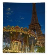 Carousel Tower Fleece Blanket