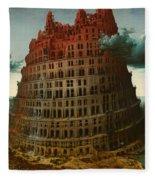 Tower Of Bable Fleece Blanket