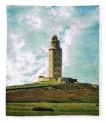 Tower Of Hercules La Coruna Fleece Blanket