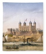 Tower Of London, 1862 Fleece Blanket