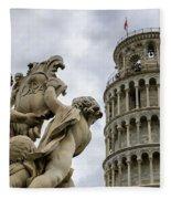 Tower Of Pisa Fleece Blanket