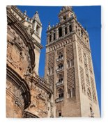 Tower Of The Seville Cathedral Fleece Blanket