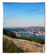 Tower Over The City Triptych Fleece Blanket