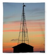 Tower Sunrise Fleece Blanket