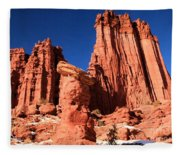 Towering Above The Hoodoo Fleece Blanket