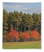 Towering Evergreens Fleece Blanket