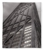 Towering John Handcock Building Fleece Blanket