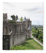 Towers And Townwall  - Carcassonne Fleece Blanket
