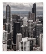 Towers Of Chicago Fleece Blanket