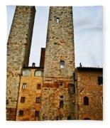 Towers Of San Gimignano Fleece Blanket