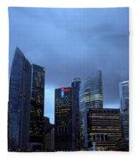 Towers Of Singapore Fleece Blanket