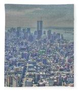 Towers To The Heavens Fleece Blanket