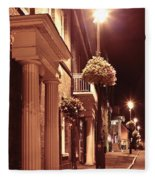 Town At Night Fleece Blanket