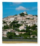 Town On A Hill, D51, Sault, Vaucluse Fleece Blanket