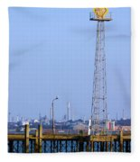 Town Quay Navigation Marker And Fawley Fleece Blanket