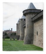 Town Wall - Carcassonne Fleece Blanket