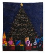 Christmas Toys Fleece Blanket