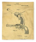 Toy Pistol Circa 1920s Fleece Blanket